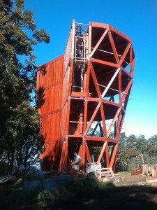 Prédikálószék- Kilátó építése képekben